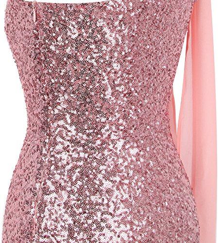 Rosa simmetrico Vestito Graduale Da lungo lustrino fashions Argento Nastro Angel donnas Sirena 1aFxv7qn