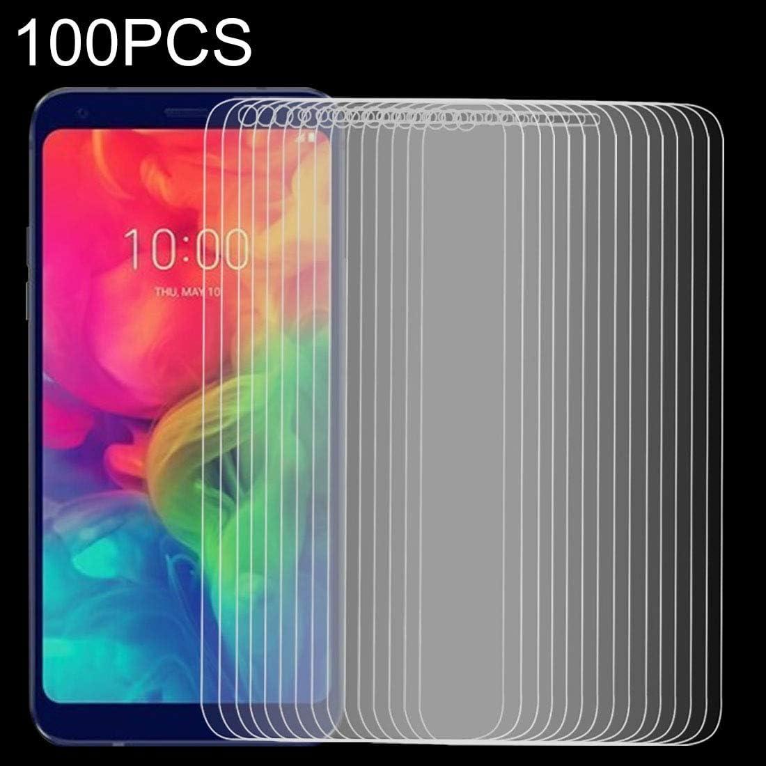GUOSHU Premium Tempered Glass Screen Film 100 PCS 9H 2.5D Tempered Glass Film for LG Q7 Anti-Scratch Screen Protector