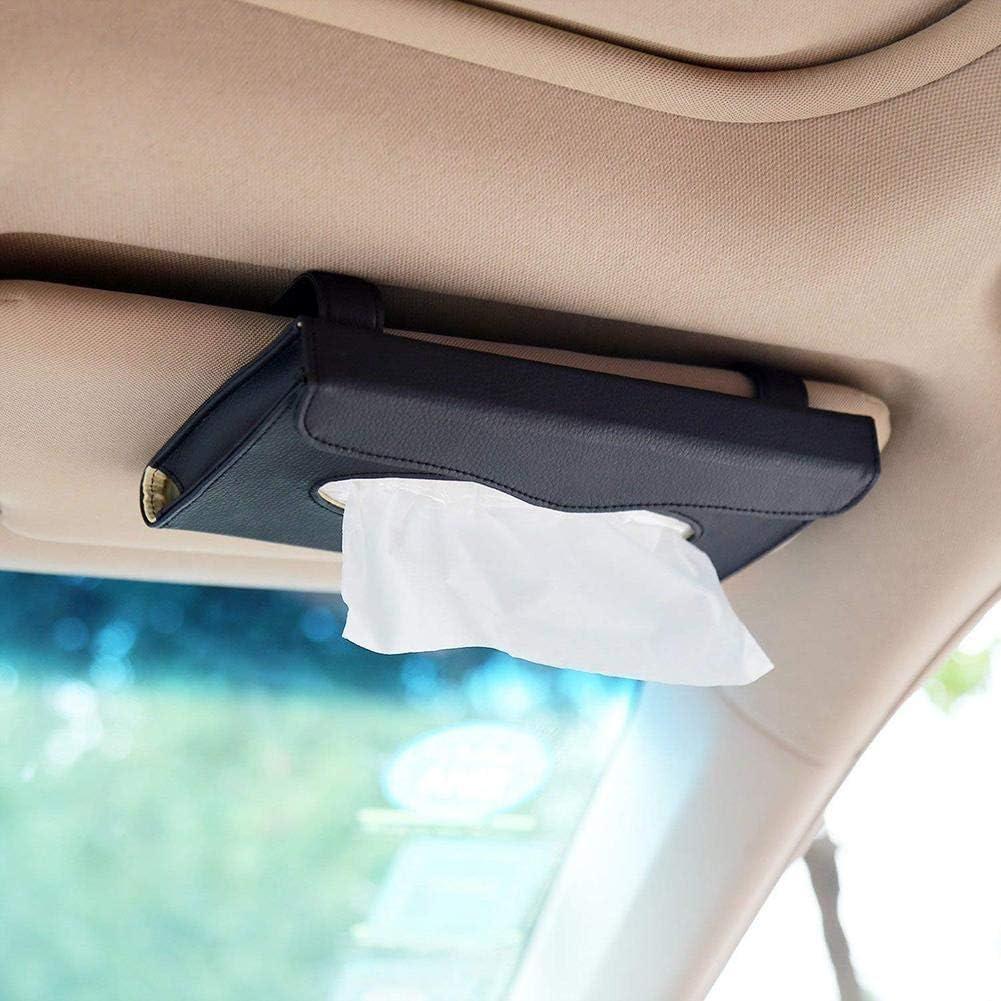 Ibàste Autoinnenausstattung Auto Auto Tissue Box Kreative Hochwertige Tissue Box Halter Kosmetiktücherbox Auto Leder Tissue Box Taschentuchbox Auto Leder Kosmetiktücherbox Leder Kosmetiktücherbox Auto