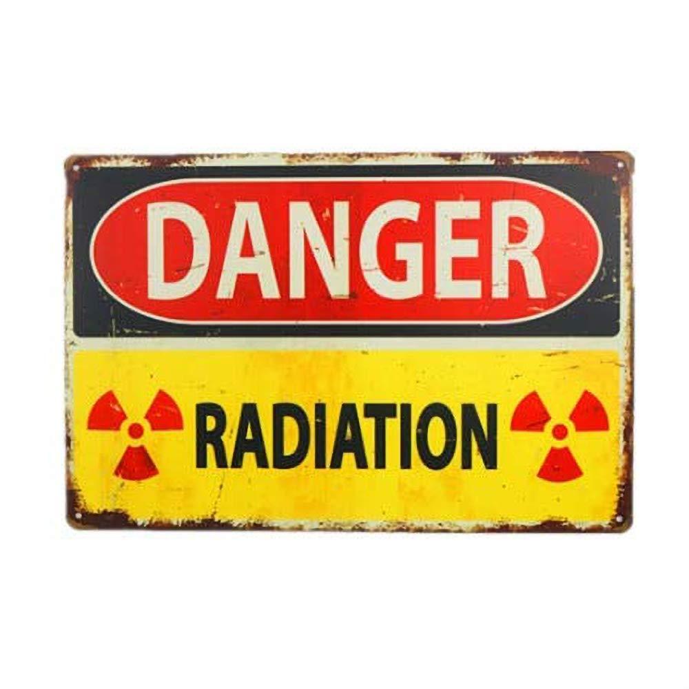 HiSign Danger Radiation Retro Cartel de Chapa Coffee Póster ...
