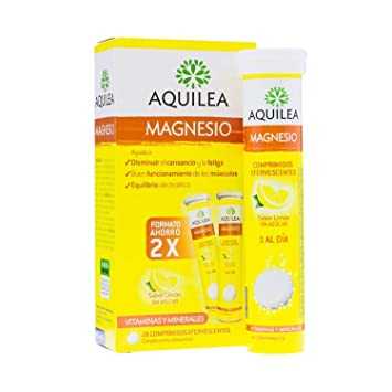 Aquilea Magnesium 2 x 14 Tablets (28 Tablets Total) - Lemon Flavoured Effervescent Tablets