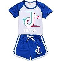 Awoeorsty Tik Tok chandal niño - Traje de sudor para niñas,chándal niño, sudadera con capucha tiktok, ropa de tok para…