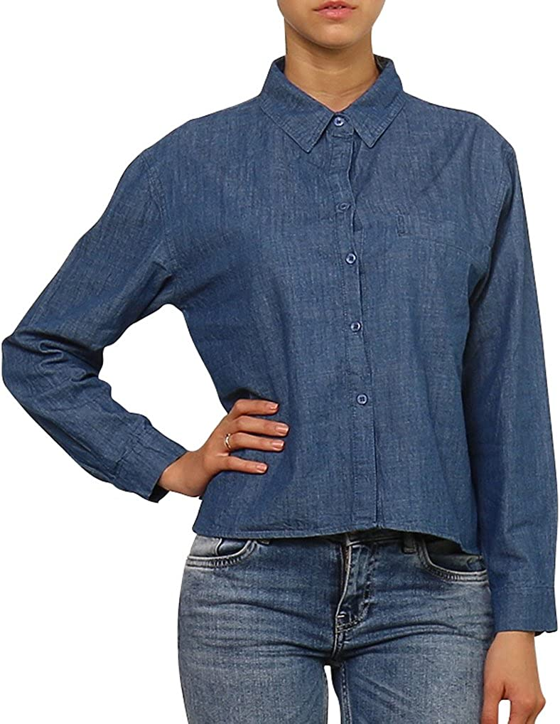 Daphnea Camisa Vaquera Mujer - Azul Loose fit Denim Shirt YOLANDABLUE: Amazon.es: Ropa y accesorios