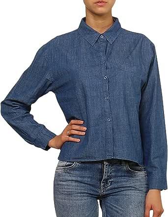 Daphnea Camisa Vaquera Mujer - Azul Loose fit Denim Shirt ...