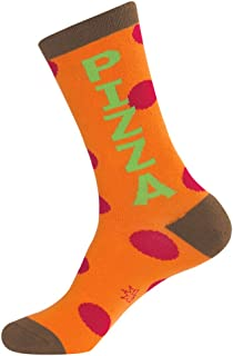 product image for Pizza Crew Socks Novelty Unisex Hosiery with Dots