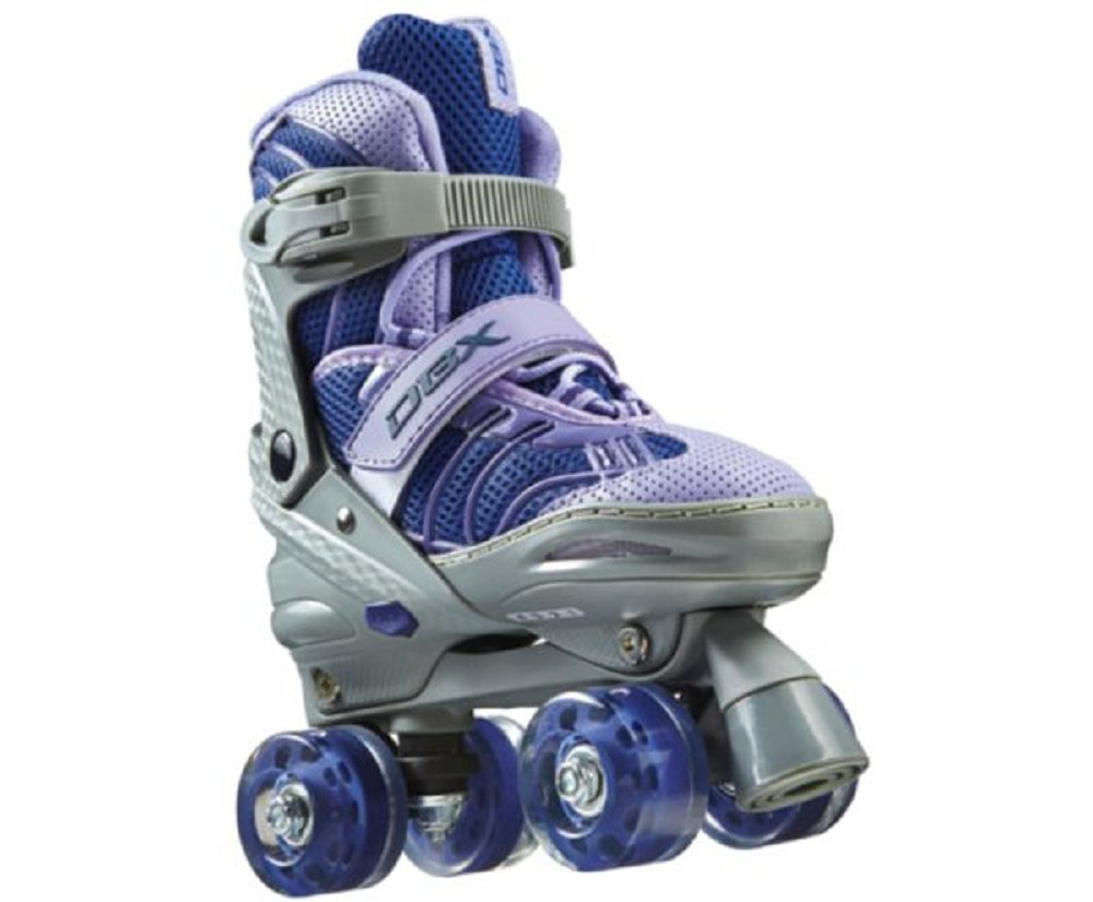 DBX Girls' Express Adjustable Roller Skate Package, Purple (LARGE) by DBX