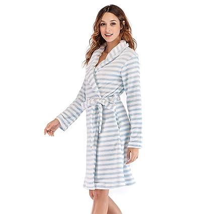 XZ Bata Baño Mujer Albornoz Rizo Microfibra Corto Batas y Kimonos con Shawl baño Abrigo Camisones