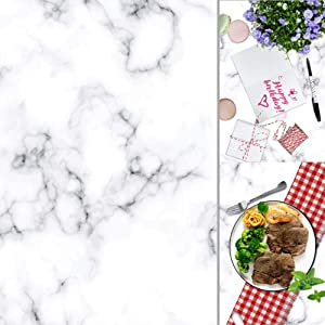 OFILA Polyester Fabric Marble Backdrop for Pictures 32x48inch Marble Photography Background for Food Marble Texture Background Marble Backdrop for Video Studio Props