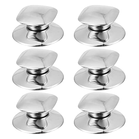 BESTONZON - 6 pomos cuadrados de acero inoxidable para ollas ...