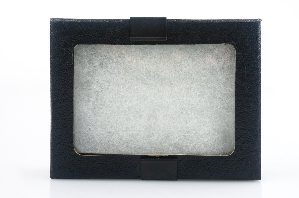 SE JT924 Glass Top Display Box with Metal Clips, 4-1/2 x 3-1/4 x 1 Sona Enterprises