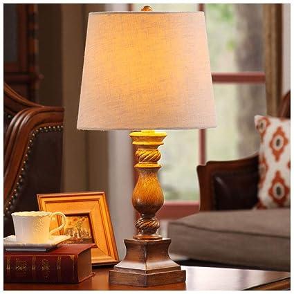 MJK Lámpara de mesa de noche, luz de mesa vintage de ...