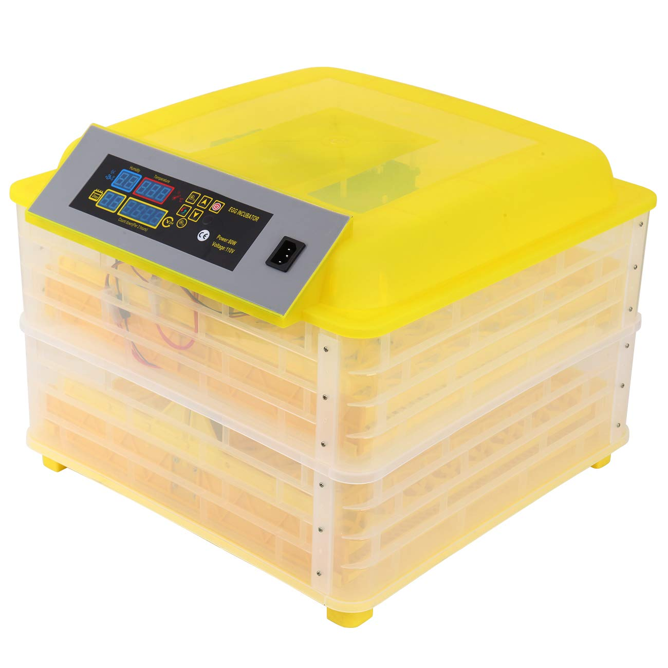 XuanYue Digital Egg Incubators 112 Eggs Incubator Automatic Turning Chicken Hatching Eggs Hatcher for Chicken Ducks Goose Poultry Pigeon Quail