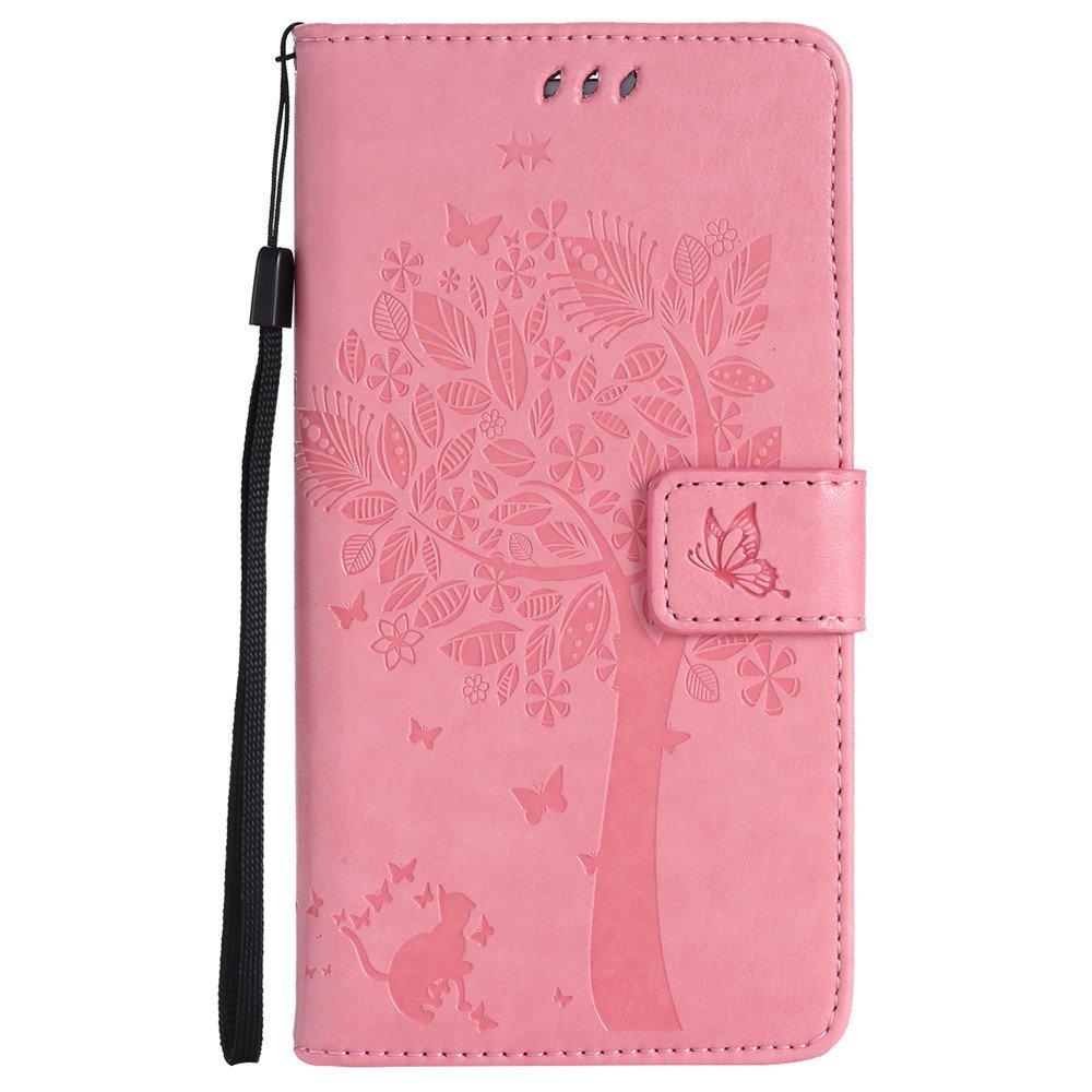 Nancen Tasche Hü lle fü r Samsung Galaxy S6 Edge Plus / G9280 Flip Schutzhü lle Zubehö r Lederhü lle mit Silikon Back Cover PU Leder Handytasche im Bookstyle Stand Funktion Kartenfä cher Magnet