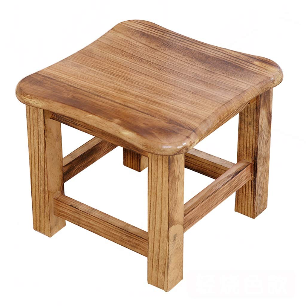 Stool - shoe bench, household solid wood coffee table stool, adult small square stool/low stool 29.529.525.5cm (Color : D)