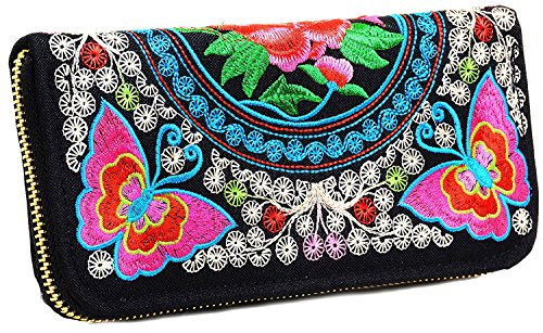 Butterfly Embroidered Wallet - 9