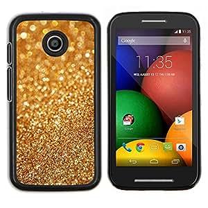 LECELL--Funda protectora / Cubierta / Piel For Motorola Moto E -- Polvo de oro Bling borrosa brillante del metal --