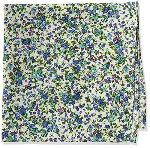 Original Penguin Men's Floral Pocket Squares, Aqua, One Size