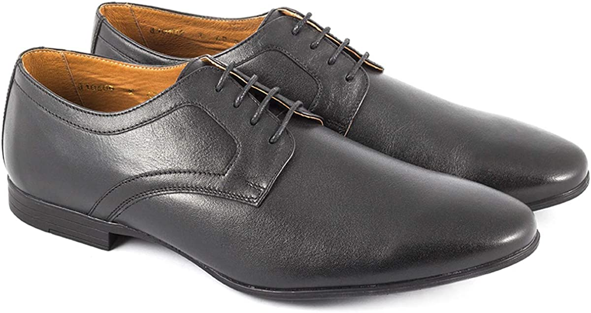 Natural Leather Dress Shoes MIDA Classic Oxford Mens Shoes -110609 Lace up Fashion Design Comfortable Shoes for Men 1 Non-Slip Sole