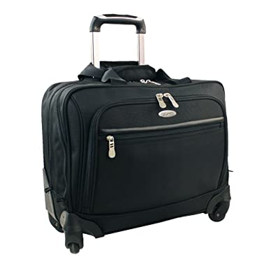 Amazon.com | Olympia Luggage Deluxe Rolling Overnighter Bag, Black ...