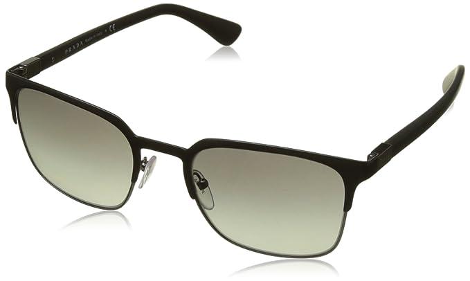 bb279bdc3dbd1 Image Unavailable. Image not available for. Color  Prada Men s PR 61SS Sunglasses  Matte Black Gunmetal Grey Gradient 52mm