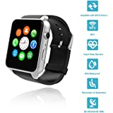 Wingtech Bluetooth Wireless GT88 Smart Watch Pedometer Activity Tracker Heart Rate Monitor Watch with Camera Sim Card Slot for iOS/Android Smartphones (Sliver)