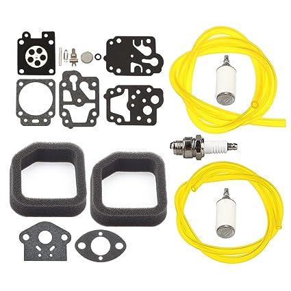 amazon com panari carburetor repair kit air filter fuel line for dixie  chopper fuel filter fuel filter homelite 360
