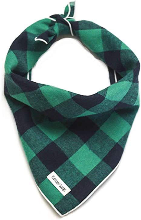 and Puppies Large Medium Small Dog Scarf Pet Accessories for Dogs Buffalo Plaid Dog Bandana Cats