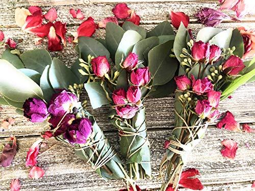 Eucalyptus, White Sage & Rose Smudge ()