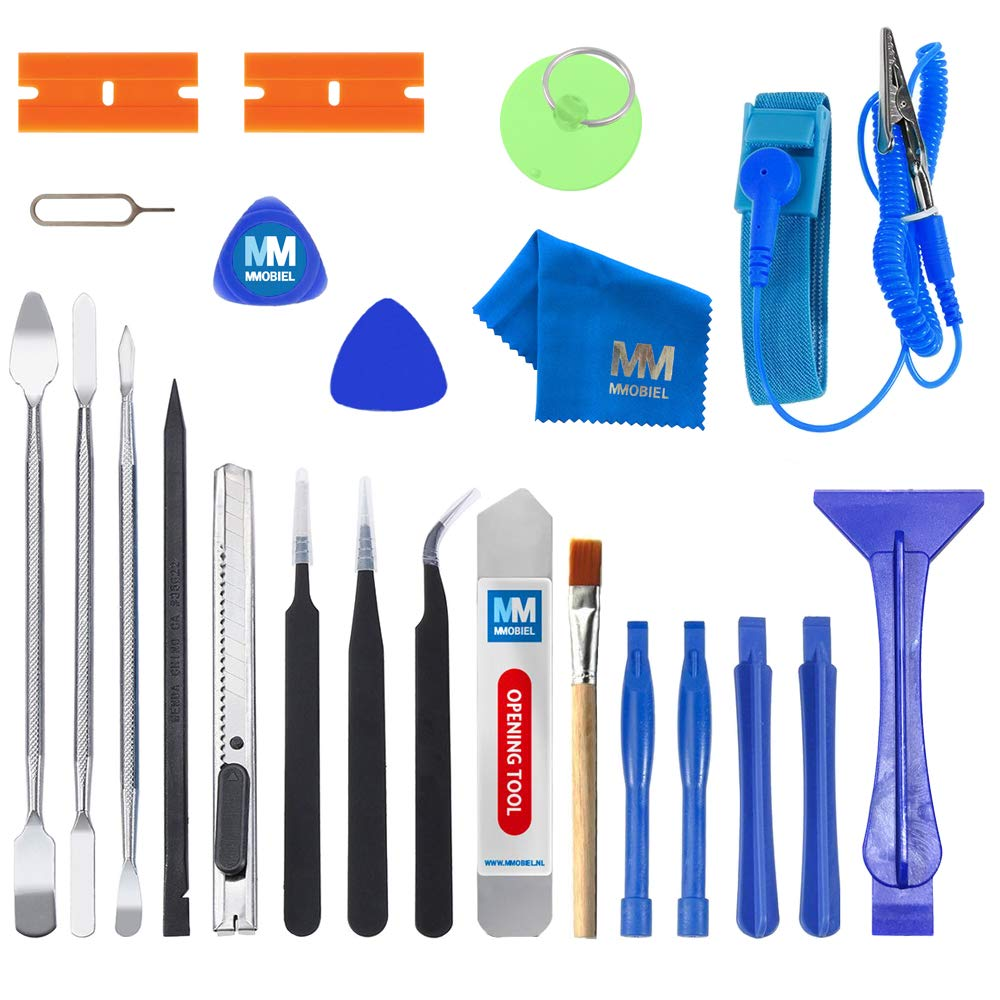 MMOBIEL 23 in 1 Professional Premium Repair Tool Kit Set incl. Anti Static Wrist Strap for Electronic Devices
