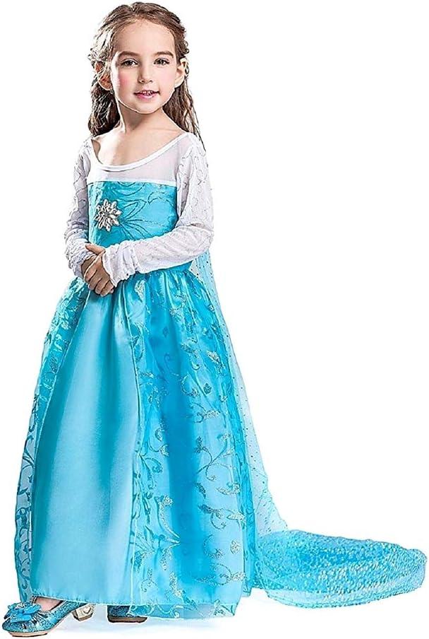 Disfraz de Elsa frozen - niña - capa de flores - halloween ...