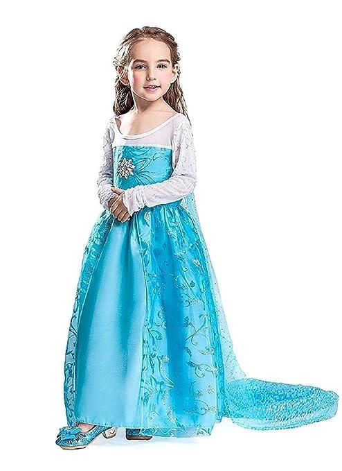 Disfraz de Elsa - carnaval - halloween - niña - capa de ...