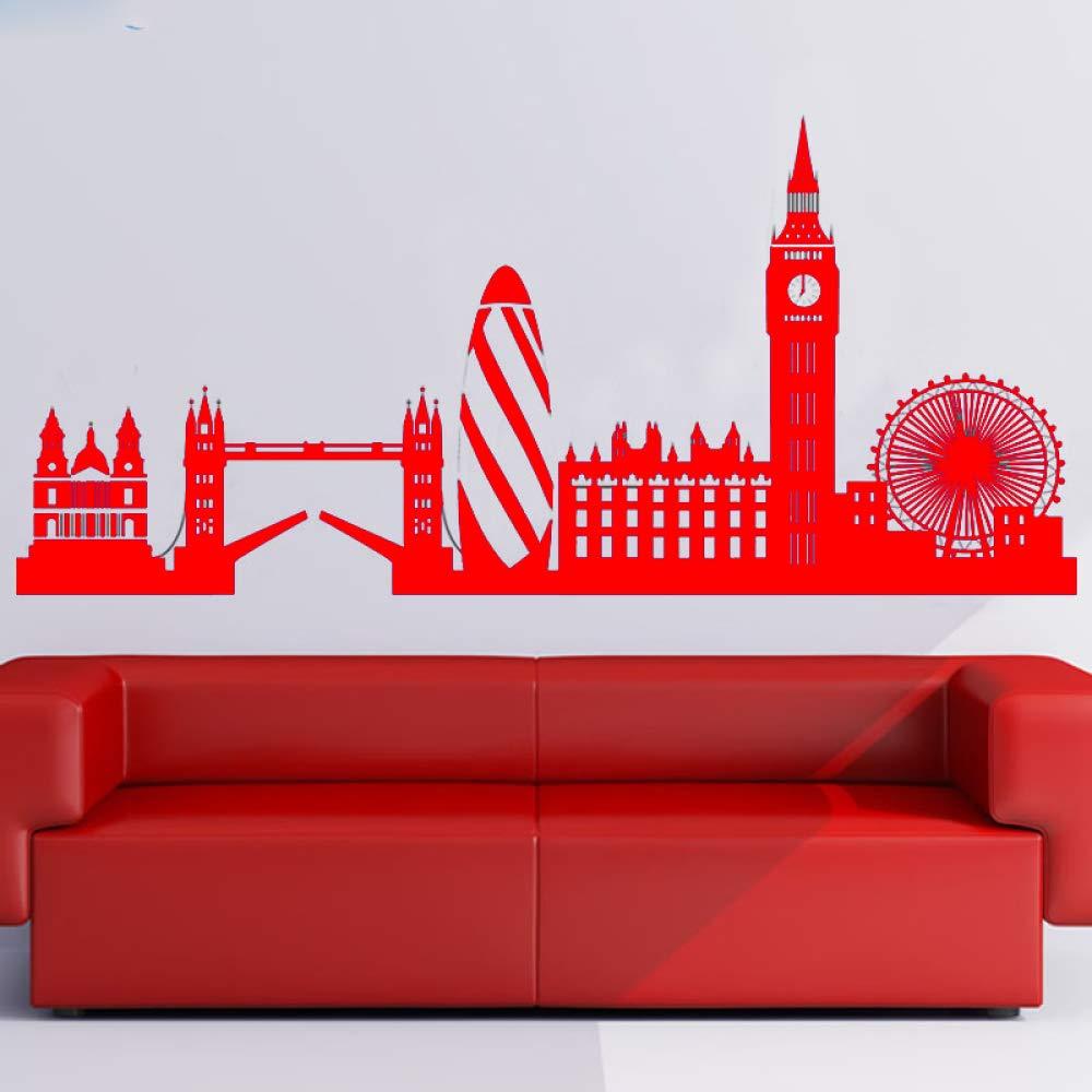 guijiumai London Skyline Wall Sticker Big Ben Landmark ...