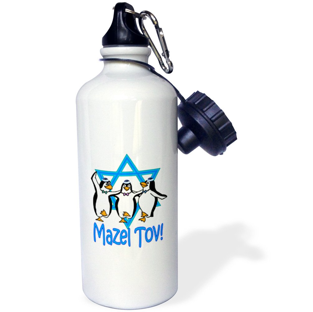 3dRose wb/_218144/_1Mazel Tov Star of David Most popular Jewish saying Israel Sports Water Bottle 21 oz Multicolor