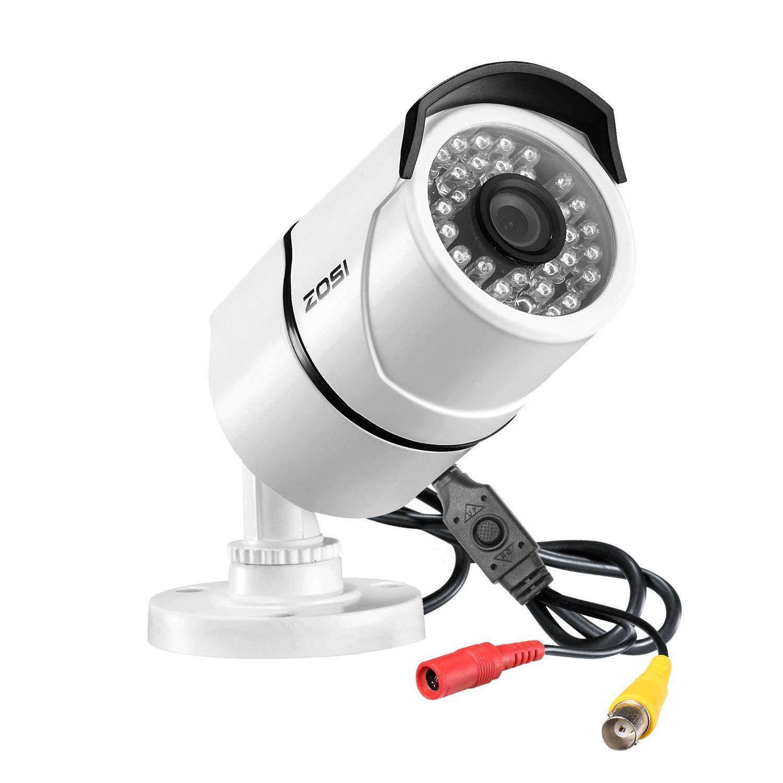 ZOSI 2.0MP FHD 1080p 1920TVL Security Camera Outdoor Indoor (Hybrid 4-in-1 HD-CVI/TVI/AHD/960H Analog CVBS),36PCS LEDs,100ft IR Night Vision,Weatherproof Surveillance CCTV Bullet Camera Housing by ZOSI