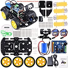 Kuman Professional WIFI Smart Robot Model Car kit Video Camera for Raspberry Pi 3 RC Remote Control Robotics Electronic Toys Game Controlled by PC Android ISO App with 8G SD Card (Not Included Raspberry Pi ) SM9
