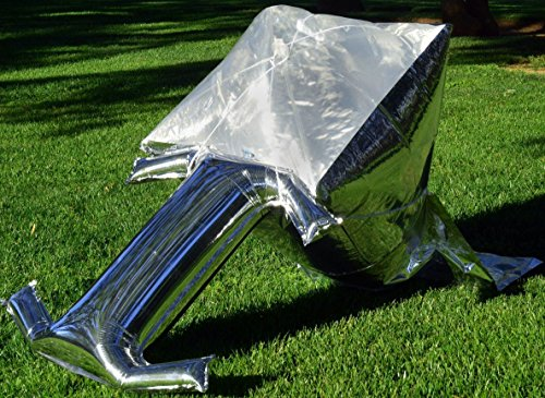 Silver Balloon Solar Cooker - ultralight, ultra-portable, ultra-compact next generation solar oven for backpackers, RVers, boaters, campers. Includes cooking pot, accessories, and WAPI.