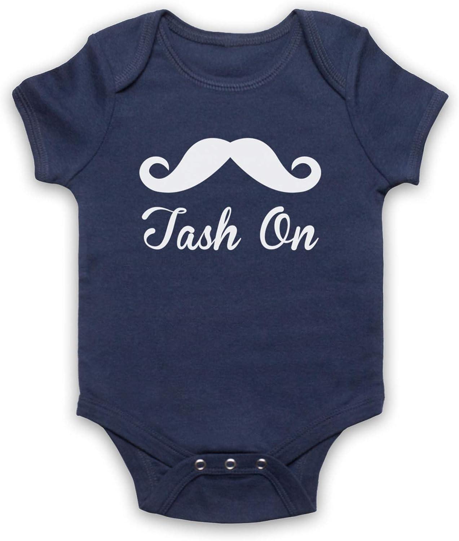 My Icon Unisex-Babys Tash On Slogan Baby Grow
