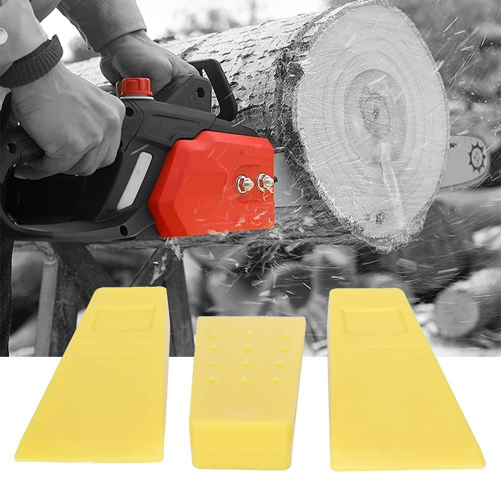 Jacksking Cu/ñas de Motosierra 3 Piezas 5 Pulgadas Pl/ástico de Alto Impacto Motosierra Tala Cu/ñas de Corte Motosierra Accesorios para Cortar /árboles