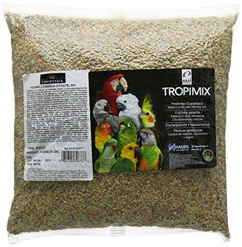 Cockatiel Granules - TropiMix Premium Food Formula for Cockatiels and Lovebirds, 8 Pound Bag