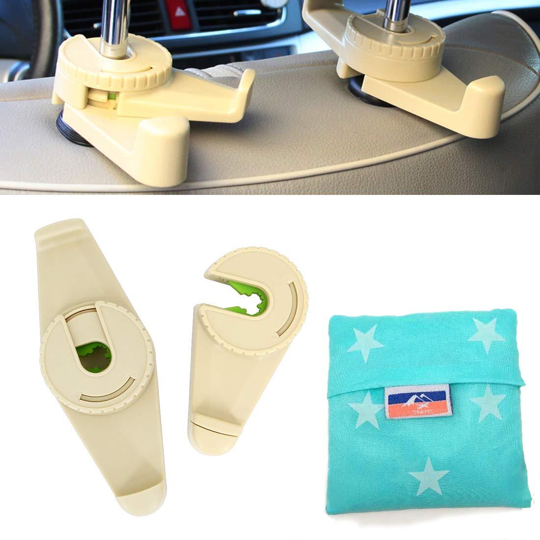 Beige Gancho del reposacabezas del asiento del autom/óvil multifuncional universal