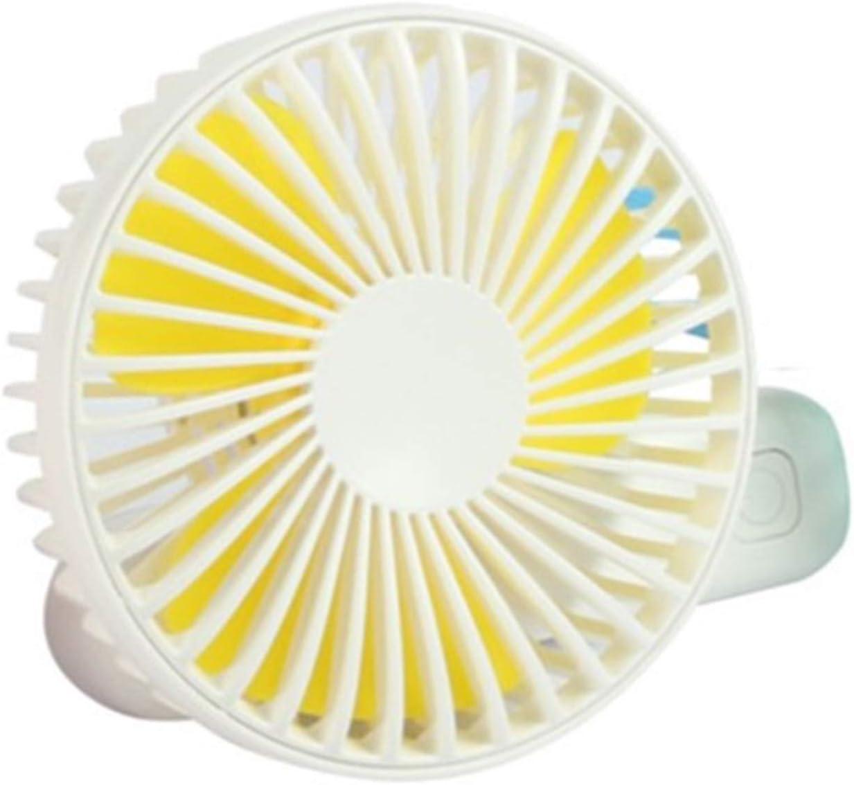 Color : Yellow, Size : One Size XIAOF-FEN Mini Cute Fan USB Rechargeable Pure Color Summer Fan Lightweight Portable Button Fan USB Fan