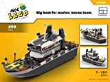 Big boat for marine rescue team (Instruction Only): MOC LEGO (English Edition)