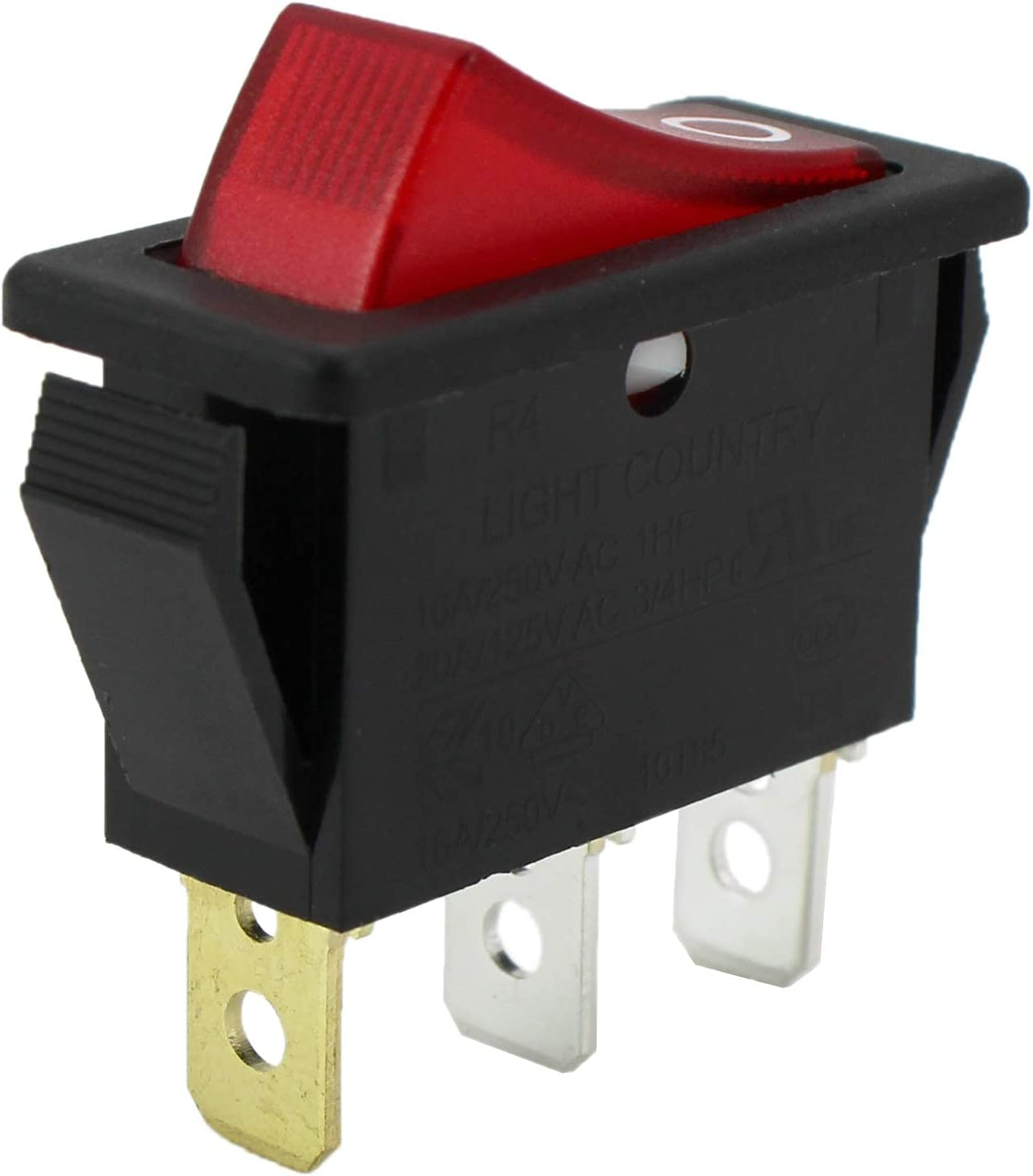 Rocker Switch Lighted On Off for 120927-24 120 Volt FMI Desa Electric Fireplaces