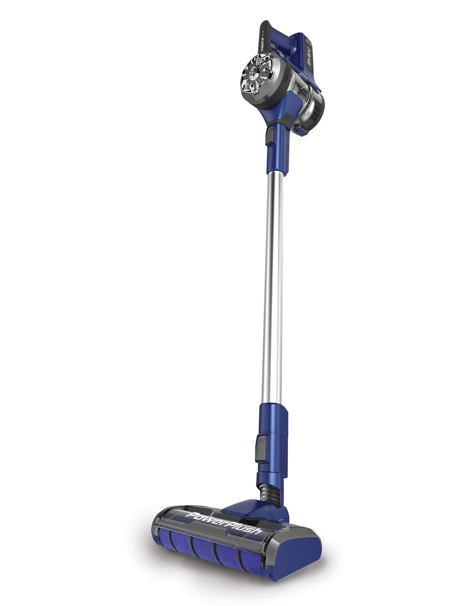 Eureka NEC122A Power Plush 2-in-1 Stick, Rechargeable Cordless Vacuum Cleaner, Grey on Blue Violet