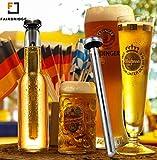 Fairbridge Beer Chiller Keeps Beer Cold Longer Chill Brew Beer Chillers Stainless Steel Bottle Wine Beverage Cooler Cooling Sticks (Pack of 2)
