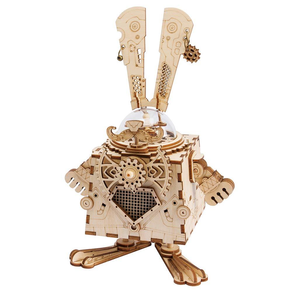 美品  TOP-Max DIY DIY 3D B07GH8JXZF 木製オルゴール ロボットマチナリウム おもちゃ 誕生日 クリスマス 誕生日 子供用 B07GH8JXZF, 座間味村:30748d8a --- svecha37.ru
