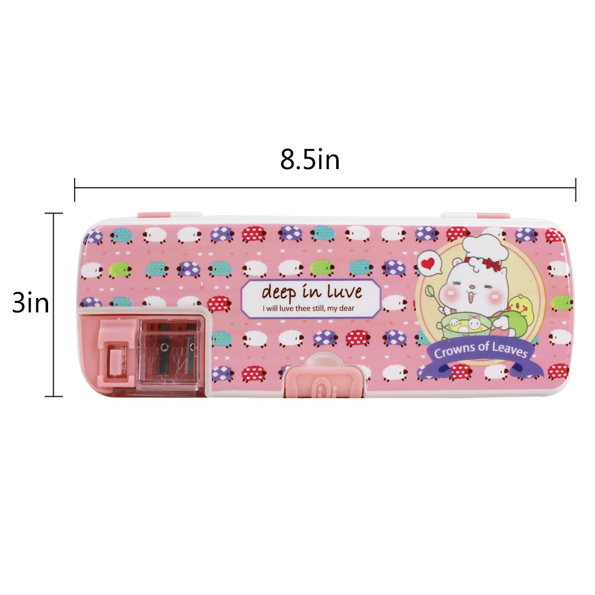 Aisa Colorful Cartoon Animals Pattern Pencil Case Multifunctional Pencil Box for Student Special Gifts for Children/Kids by Aisa (Image #2)