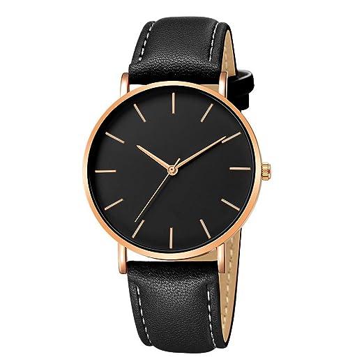 Modaworld Relojes Pulsera Hombre, Reloj de Aleación Hombre Reloj Deportivo de Cuarzo analógico de Cuero sintético Relojes de Moda Chico Deportivos: ...
