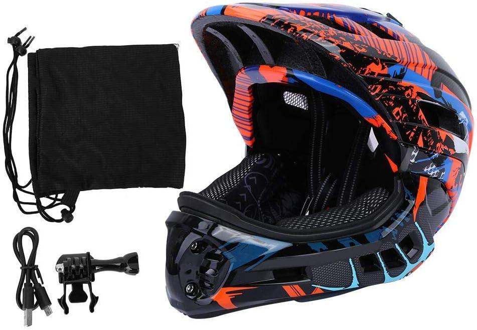 Alomejor GUB Kids Head Protector Niños Scooter Carga USB Bicicleta Luz Casco Rodillo Sombrero de Seguridad