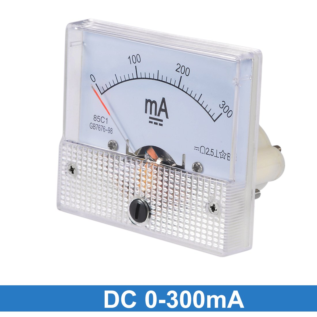 uxcell 85C1 Analog Current Panel Meter DC 20A Ammeter for Circuit Testing Ampere Tester Gauge 1 PCS